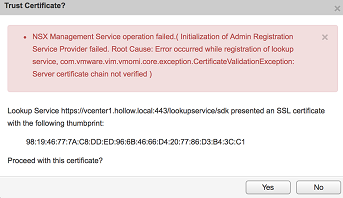 NSX Issues After Replacing VMware Self-Signed Certs