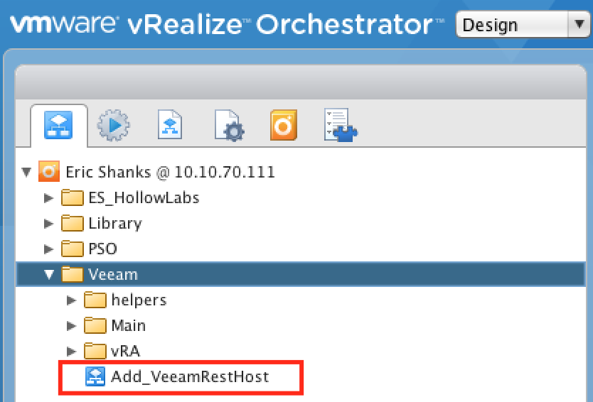 Veeam Package for vRealize Orchestrator - The IT Hollow