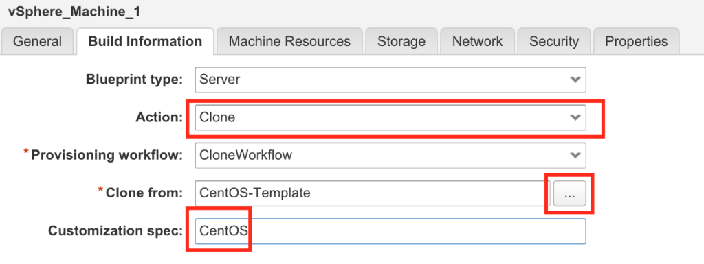 Vrealize automation 7 blueprints the it hollow action to clone click the ellipsis and select one of your vsphere templates and lastly on this tab enter a customization spec exactly how it is malvernweather Images