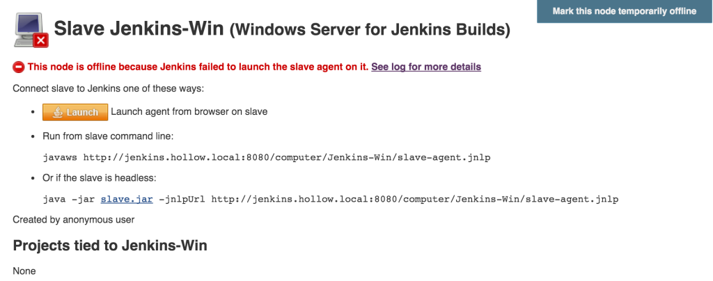 Add a Jenkins Node for Windows Powershell - The IT Hollow