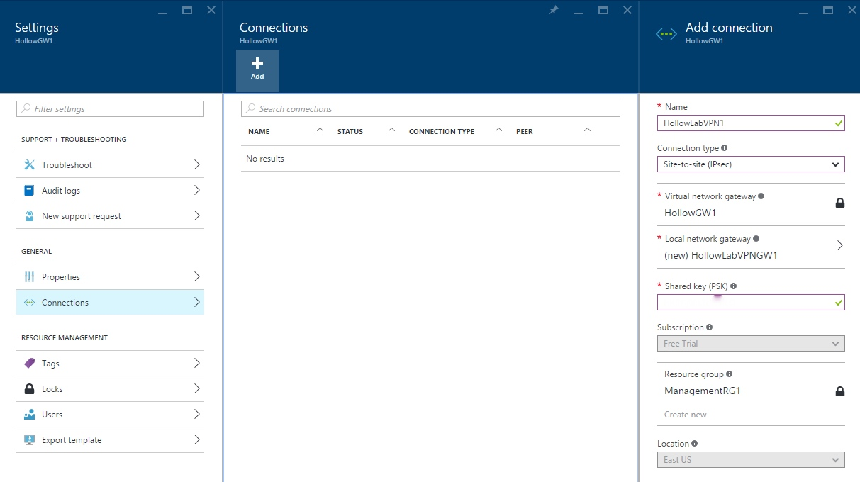 Create Azure VPN Connection - The IT Hollow