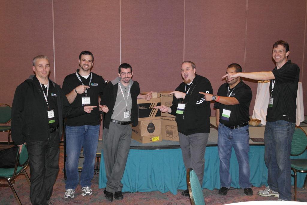 VMUG Leaders with Home Lab Winner