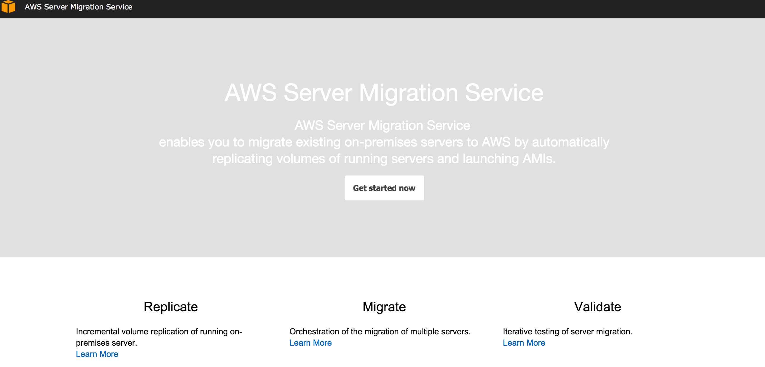 Migrate vSphere VMs to Amazon with AWS Server Migration