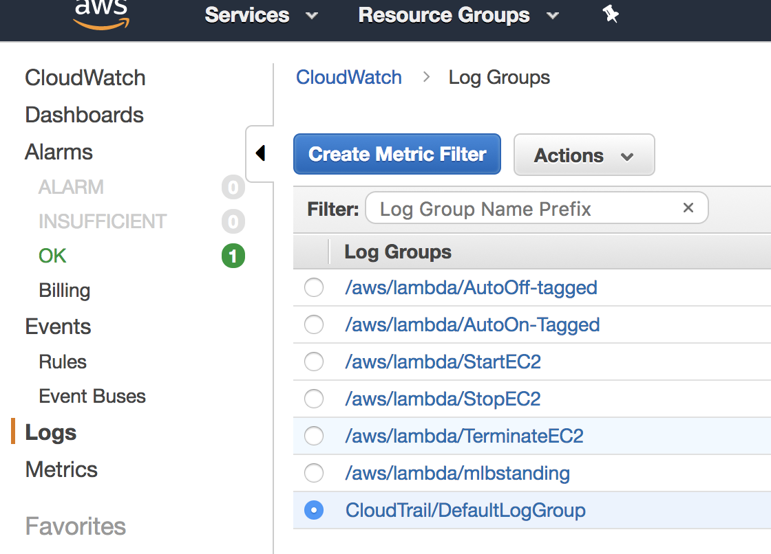 Use Amazon CloudWatch Logs Metric Filters to Send Alerts - The IT Hollow